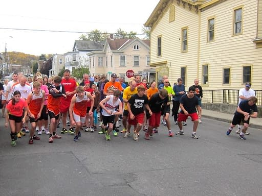2012 GhostlyGallop, Hudson Area Library, Hudson NY - start of 5K