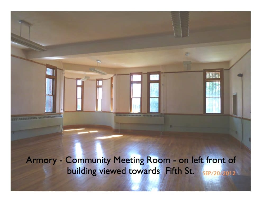 Armory - Community Meeting Room front left facing Fifth St. Hudson NY