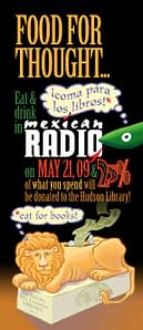 Eat for Books at Mexican Radio