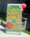 Friends of the Hudson Area Library Book Sale Room Sign