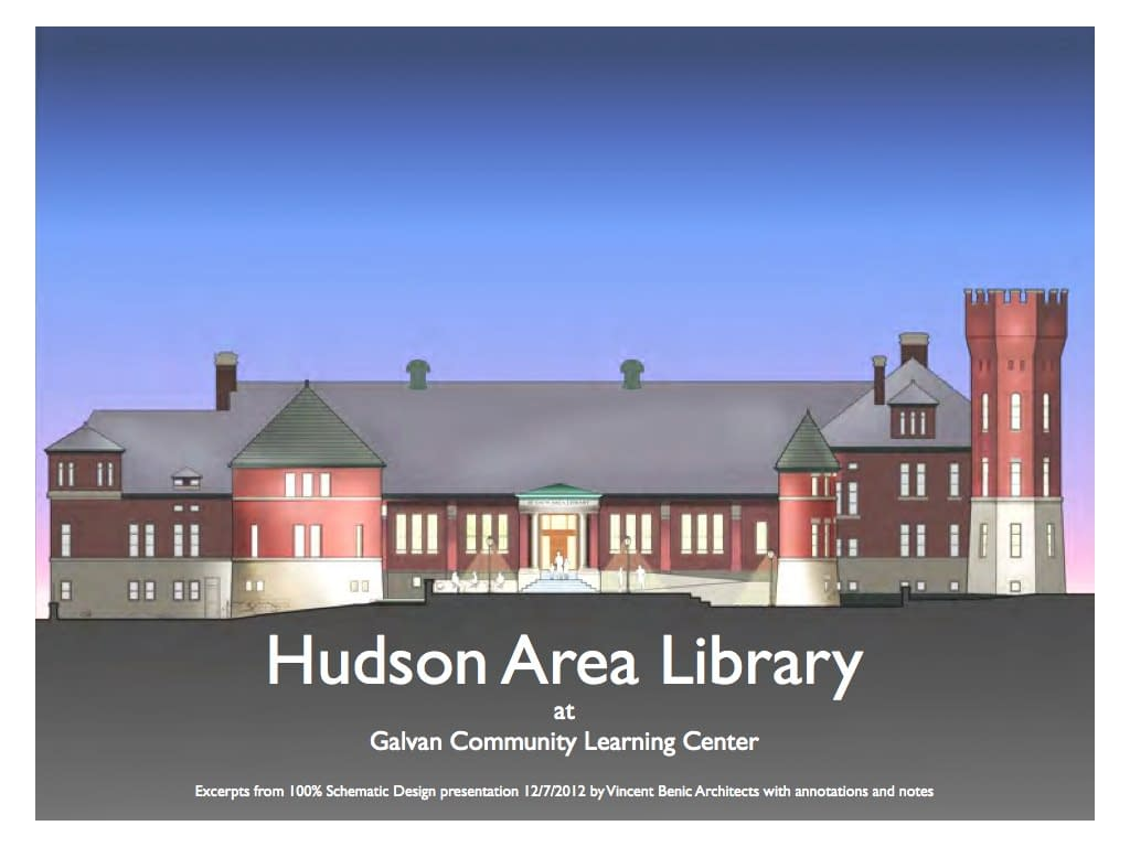Final Schematic Design presentation for Hudson Area Library, Hudson NY